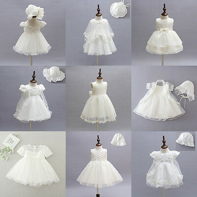 9 Styles Toddler Baby Girls Floral Party Wedding Baptism Christening Gown Dress