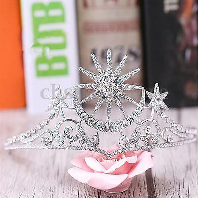 Vintage Wedding Bridal Crystal Queen pageant Crown Tiara Headbands Prom Jewelry