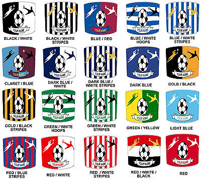 Football Teams Lampshades, Ideal To Match Children`s Football Theme Bedrooms.