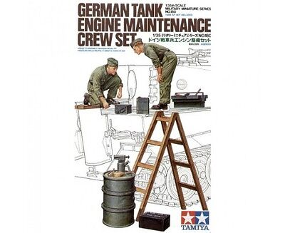 Tamiya 1:35 Accessori German Tank Engine Maintenance Crew Set   Art 35180