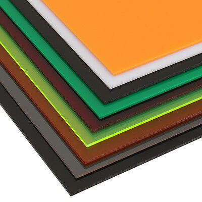 New 3mm A2 420x594mm Acrylic Perspex Sheet Cut to Size Panel Plastic Satin Gloss