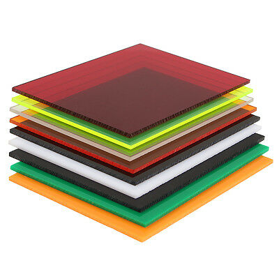 New 3mm A6 105x148mm Acrylic Perspex Sheet Cut to Size Panel Plastic Satin Gloss