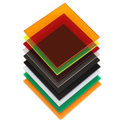 New 3mm  78x78mm Acrylic Perspex Sheet Cut to Size Panel Plastic Satin Gloss