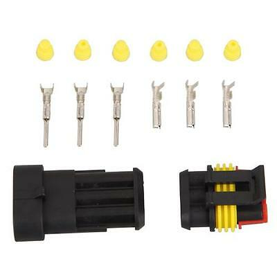 5 Kit 3 Pin Way Waterproof Electrical Wire Connector Plug New