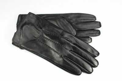 Mens Leather Gloves Fleece Lined.High quality sheepskin leather.Black or brown