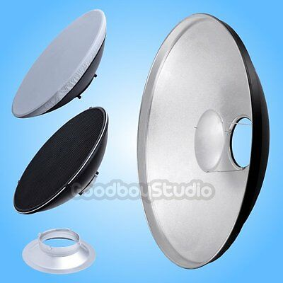 55cm 22'' Silver Honeycomb Beauty Dish Multiblitz-B Mount (Speedring Changeable)