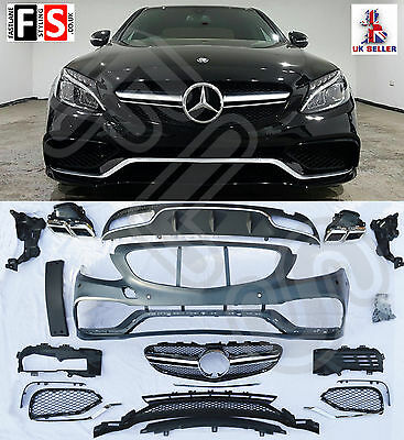 Mercedes Benz C63 W205 13+ Amg Bodykit Conversion Body Kit Bumper Diffuser