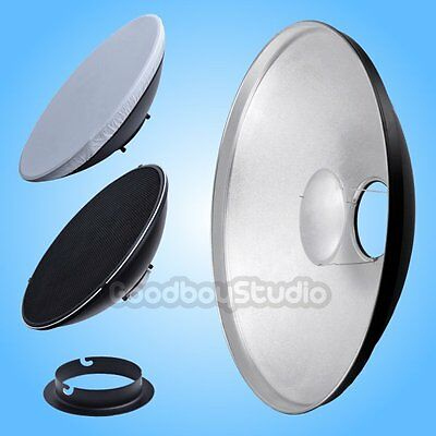 55cm 22'' Silver Honeycomb Grid Beauty Dish Comet-A Mount (Speedring Changeable)