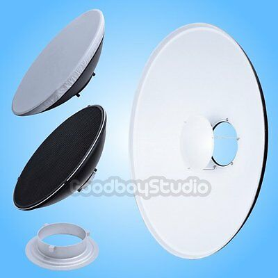 55cm 22'' White Honeycomb Grid Beauty Dish Bowens Mount (Speedring Changeable)