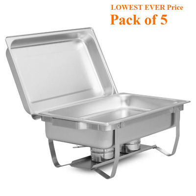 5x  STAINLESS STEEL CHAFING DISH SETS /BUFFET HOT FOOD WARMER @Next Day Delivery