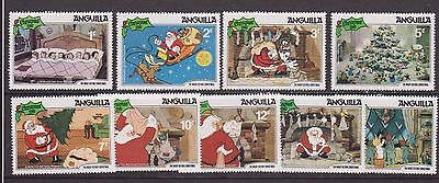 Anguilla Stamp Set  Disney 1981 The Night Before Christmas  Mnh Sg 475-483