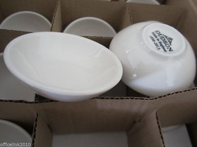 """12 x NEW Dudson Small White Ceramic Bowl 7.6cm 3"""" Dish Sauce Dipping Condiment"""