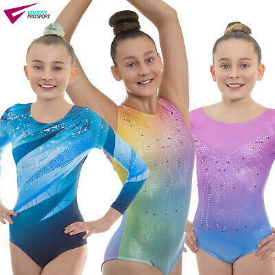 Deluxe Girls Show Gymnastic Gym Leotards for Dancewear, Gym and Dance Shows