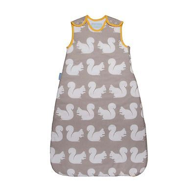 The Gro Company Kissing Squirrels Baby Grobag Sleeping Bag Sack - 0-6m, 1.0 Tog
