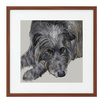"Print - Scottish Deerhound 12""x12'"