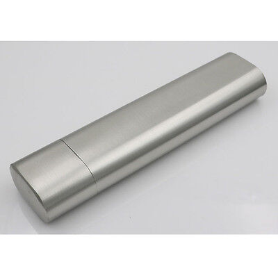 1X Dual Tube Stainless Steel Cigar Case Military Camping Travel Cigarette Holder