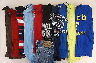Abercrombie Lot of 11 Kids Boys Polo/T-Shirts, Jeans Sweater Small S 8/10 F12089