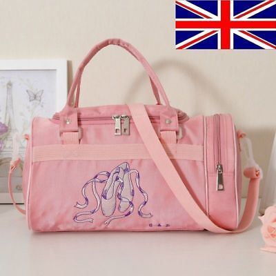UK Stock Wow Sale New Girls Kids Pink BALLET shoes Bag DANCING Bag Shoulder Bag