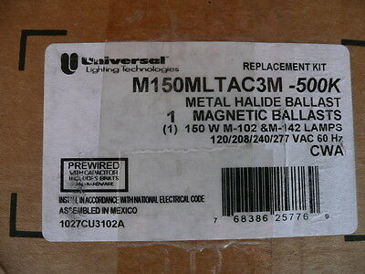 UNIVERSAL M150MLTAC3M500K METAL HALIDE BALLAST (replacement kit), 768386257769