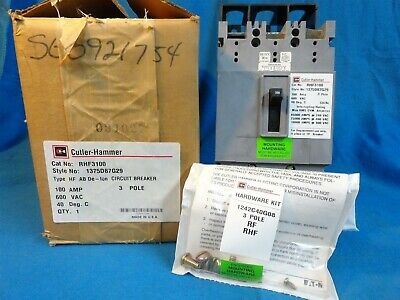 CUTLER-HAMMER (NEW) CIRCUIT BREAKER * HF3100 *  RHF3100 * AMP 100 * 3 Pole