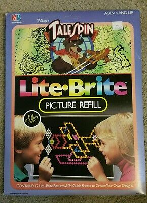 VINTAGE Lite Brite Tale Spin picture refill NBO