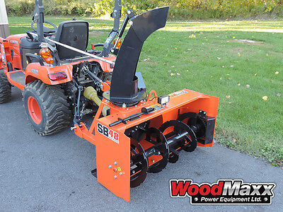 "WOODMAXX SB-48 PTO Snow Blower 48"" (FREE SHIPPING to the lower 48 States)."