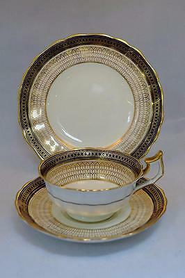 Stunning Vintage Cauldon Tea Trio Pattern 3709 Cobalt Blue and Gold