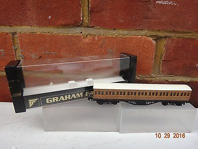 GRAHAM FARISH LNER TEAK 57ft SUBURBAN COACH N GAUGE BOXED