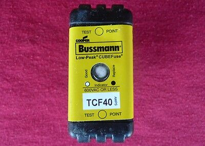 New Cooper Bussmann TCF40 Low-Peak® Time-Delay CUBE Fuse; 40 A, 600V AC/300V DC