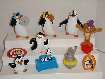 Penguins Of Madagascar Squirt Kowalski Launcher Gloria Alex 8 Mcdonalds Toys #b