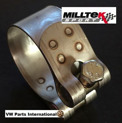 VW Golf GTI VR6 R32 Scirocco Polo T4 T5 T6 Milltek Sport 58mm Exhaust Pipe Clamp