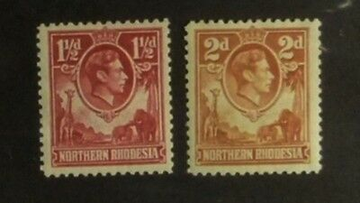 Stamps: Northern Rhodesia ; SG# 29 & 31  MLH  VF   (D513)