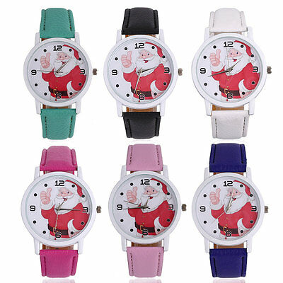 Funny Men Women Quartz Luxury Christmas PU Leather Strap Wrist Watches AU