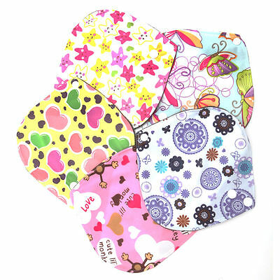 6*6 Inch Menstrual Pads Reusable Washable Bamboo Cloth Sanitary Maternity
