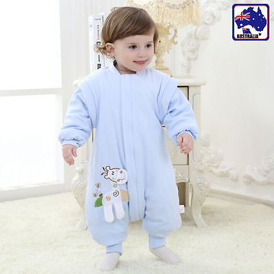 Toddler Sleepsuit Sleeping Bag Pajamas Autumn Spring Cotton Baby Infant BAWAE78