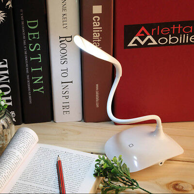 Adjustable USB Rechargeable Touch Sensor LED Reading Light Desk Table Lamp  LO