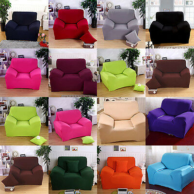 Stretch Solid Armchair Sofa Cover 1 Seater Protector Couch Cover Home Decoration