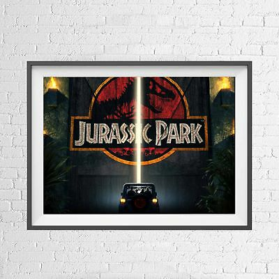 JURASSIC PARK DINOSAUR CLASSIC MOVIE POSTER PICTURE PRINT Sizes A5 to A0 **NEW**