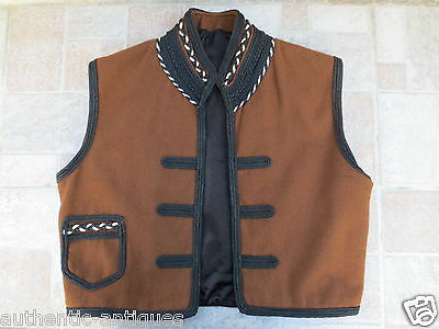 Antique 19th C. Man's Male Folk Vest Folklore COSTUME Macedonian Greece OTTOMAN