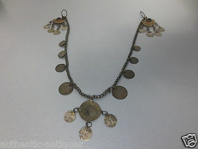 Gorgeous Antique Silver Ottoman Folklore Earrings+Necklaces+Coins 18-19th - RARE • CAD $201.21