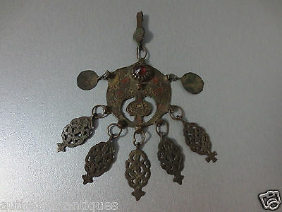 Gorgeous Antique Bronze ENAMEL Ottoman Folklore 18th Ottoman VERY RARE Ornament • CAD $101.93