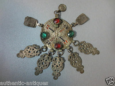 Gorgeous Antique Silver alloy ENAMEL Ottoman Folklore 18th Ottoman RARE Ornament