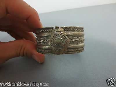 ORIGINAL ANTIQUE Late 19th Century Silver alloy OTTOMAN WOMEN'S FOLK BRACELET #3