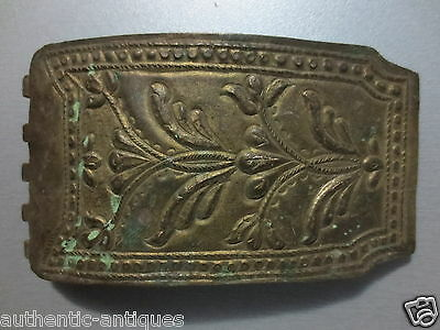 TOP PRICE! GORGEOUS ANTIQUE OTTOMAN Silver Alloy Half BELT BUCKLE 19th Century!