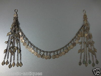 Gorgeous Antique Silver Ottoman Folklore Earrings+Necklaces+lot of Coins 19th C.