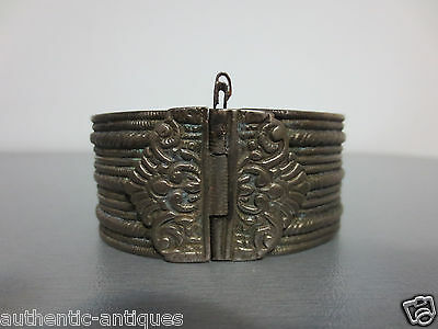 Gourgeous ANTIQUE Late 19th Century Silver alloy OTTOMAN WOMEN'S FOLK BRACELET 8