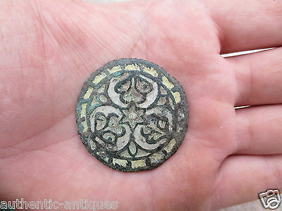 WOW! Gorgeous Antique ENAMEL Buckle ORNAMENT Middle Ages Exremely EXTREMELY RARE
