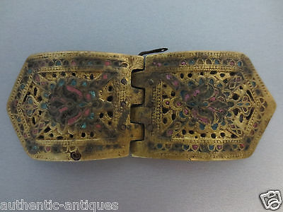 WOW! Gorgeous LARGE Antique ENAMEL Buckle late Middle Ages Exremely RARE