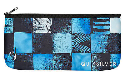 "Brand New + Tags Quiksilver Boys Large Pencil Case School Uni ""check It"" Bnwt"