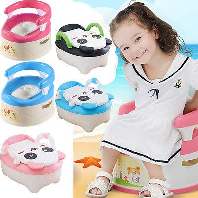 Learn to Flush Baby Potty Training Toilet Seat Portable Toddler Chair Kid Traine